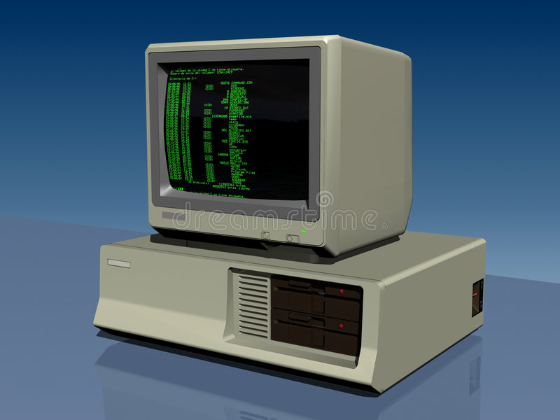 PC 286 ilustración del vector