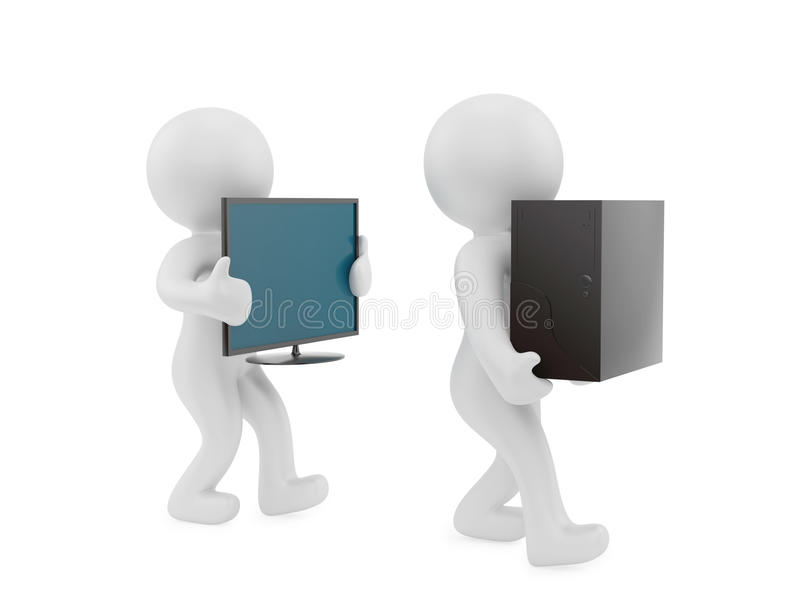 Download PC carry stock illustration. Illustration of electronic - 24183480