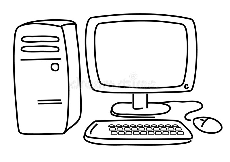 PC.Computer stock illustratie