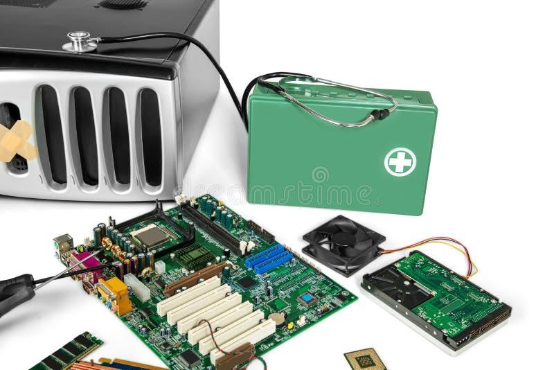 PC-Computer, Diagnosen und Reparaturkonzept an stockbilder