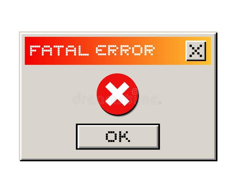 PC d'erreurs illustration stock