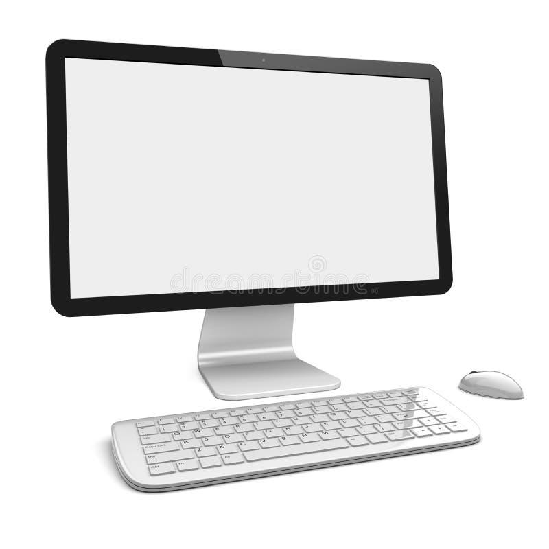Download PC de bureau illustration stock. Illustration du blanc - 56487110