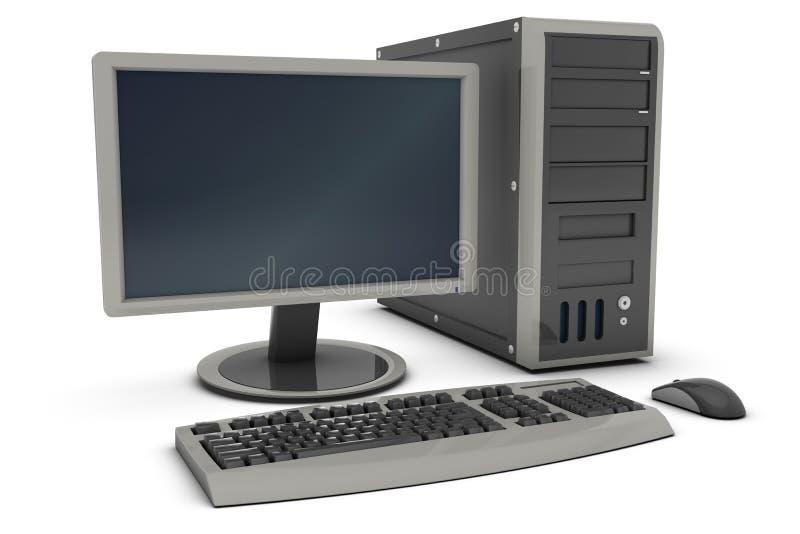 PC de bureau illustration de vecteur