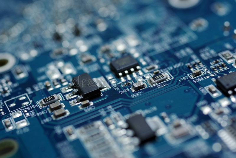PC de circuit de panneau image libre de droits