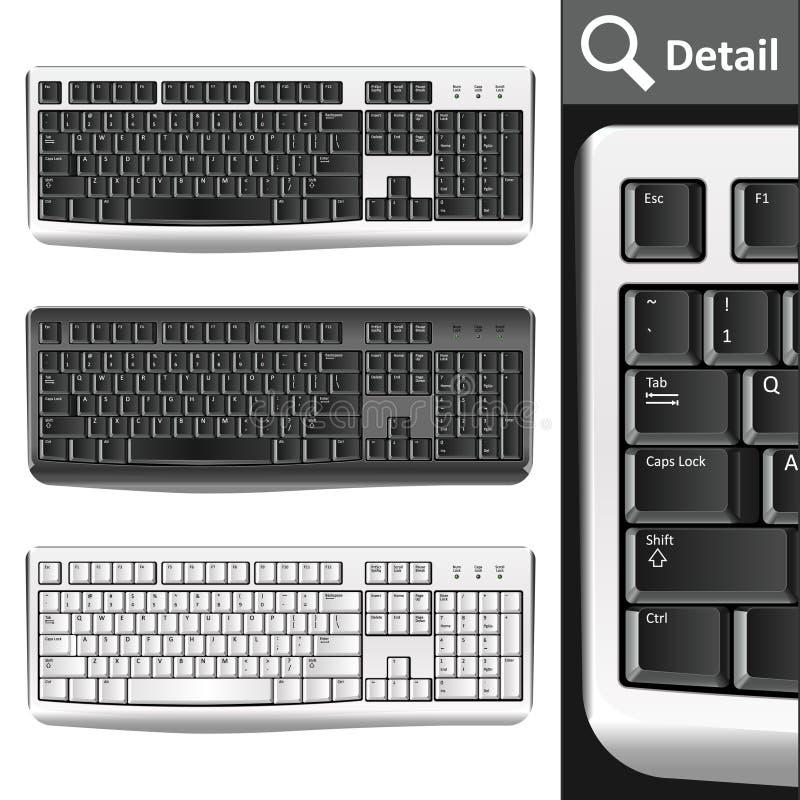 PC de claviers illustration stock
