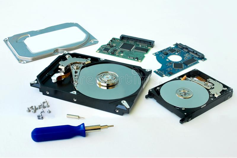 PC de disque dur images libres de droits