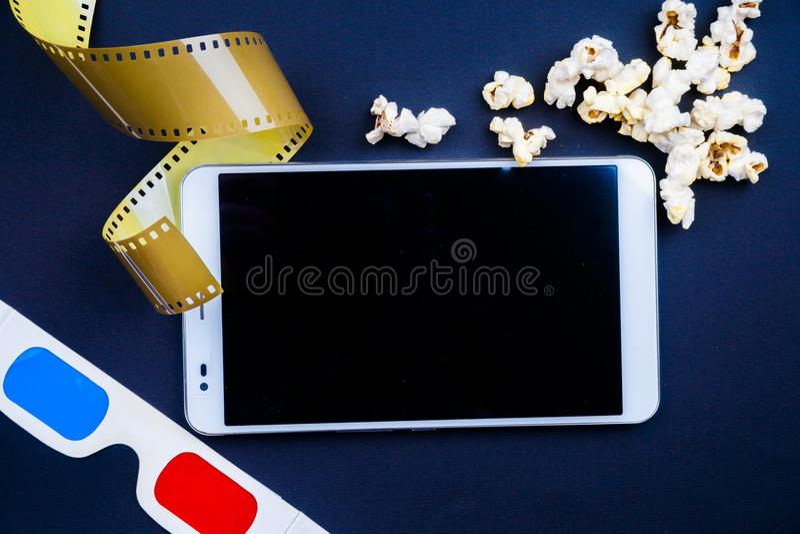 PC del cine fotografía de archivo libre de regalías