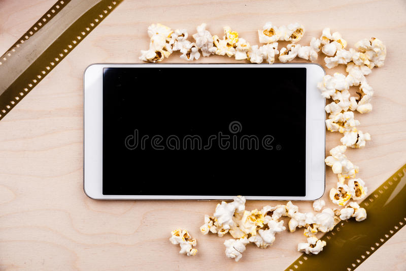 PC del cine imagen de archivo libre de regalías