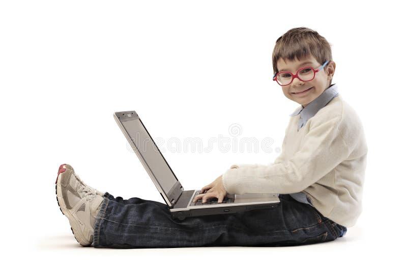 PC del niño fotos de archivo libres de regalías