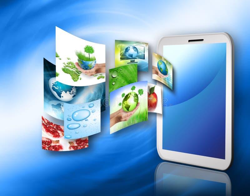 PC del Touchpad o de la tablilla ilustración del vector