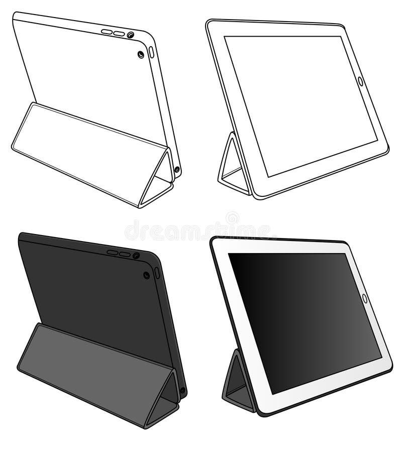 PC della compressa di coloritura isolato immagine stock