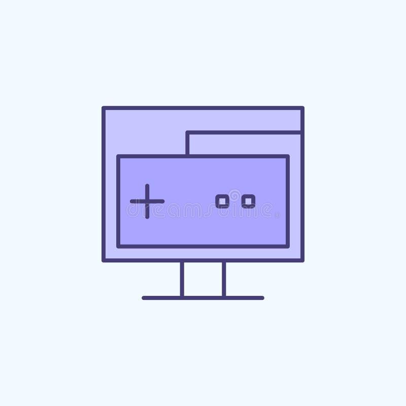 PC die 2 rassenbarrièrepictogram testen Eenvoudige kleurenelementillustratie testend de overzichtsknopontwerp van PC van nieuwe g stock illustratie
