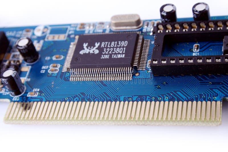 PC do cartão do Ethernet fotografia de stock
