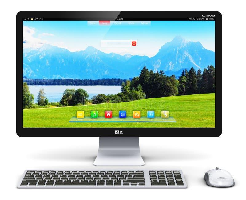 PC do computador de secretária ilustração stock