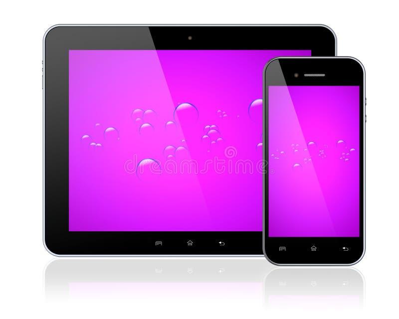 Download PC Et Smartphone De Comprimé Illustration Stock - Illustration du pourpré, téléphone: 56487133