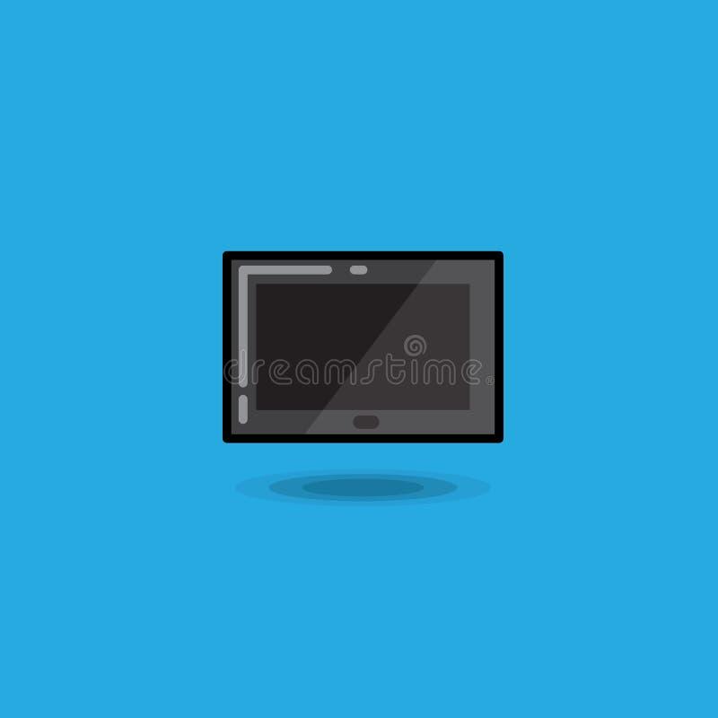 PC för dator för vektorillustrationminnestavla, digital isolerad minnestavlaipadsymbol royaltyfri illustrationer