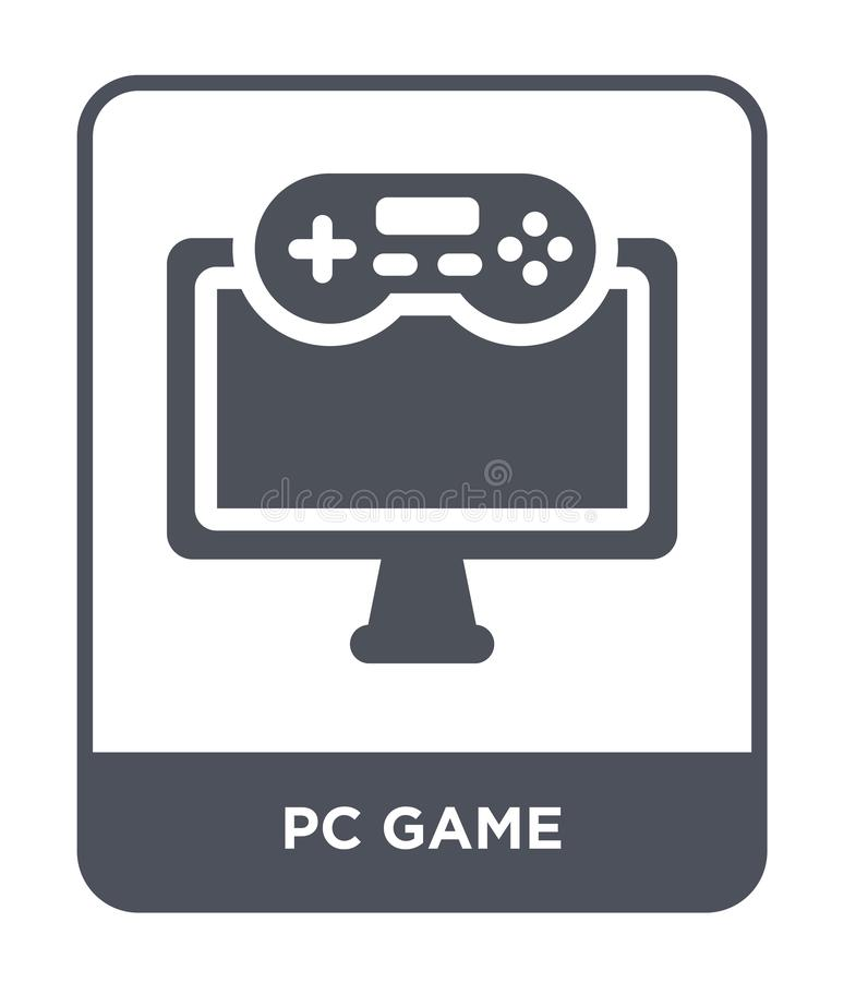 Pc game icon in trendy design style. pc game icon isolated on white background. pc game vector icon simple and modern flat symbol. For web site, mobile, logo royalty free illustration