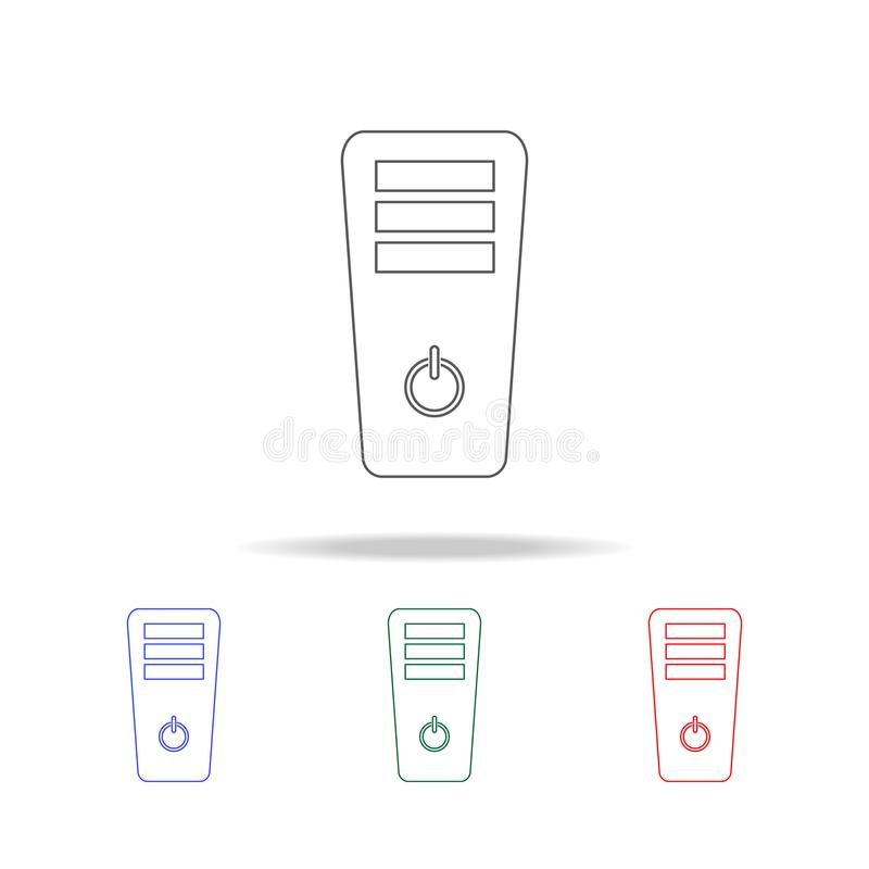 PC-gevalpictogram Elementen van het spelleven in multi gekleurde pictogrammen Grafisch het ontwerppictogram van de premiekwalitei royalty-vrije illustratie