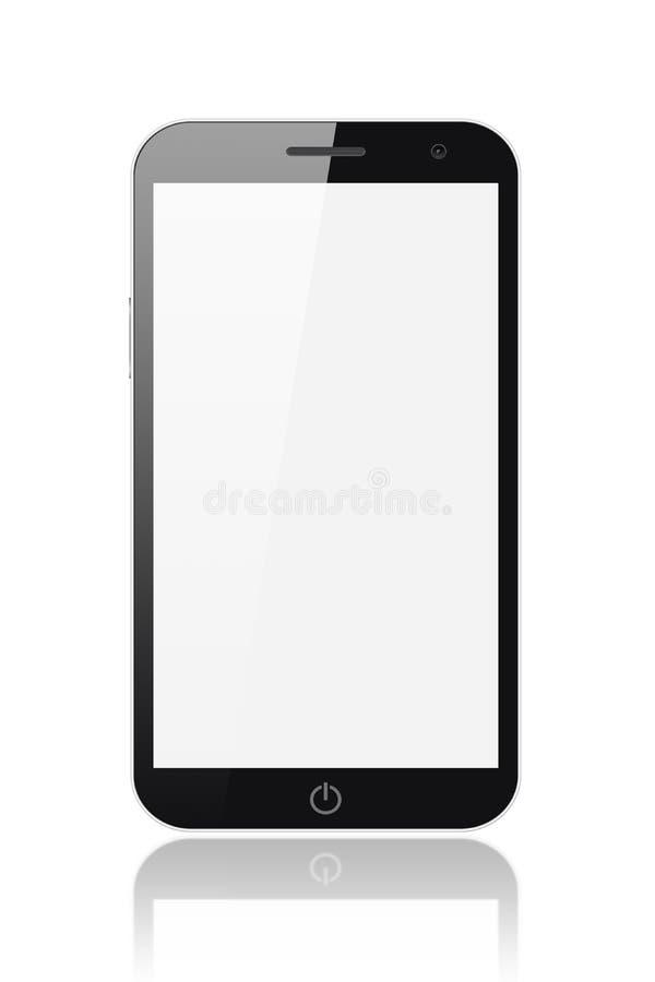 PC intelligent de téléphone-tablette avec l'écran blanc illustration libre de droits