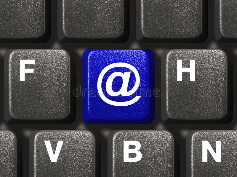 Download PC Keyboard With E-mail Key Stock Image - Image: 3995043