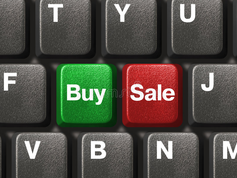 PC keyboard with two business keys royalty free stock photo