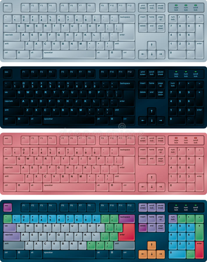 Download PC keyboards stock vector. Image of message, information - 10968733