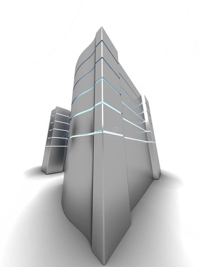 PC Kontrolltürme stock abbildung