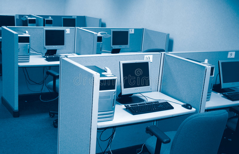 PC-Labor stockfoto