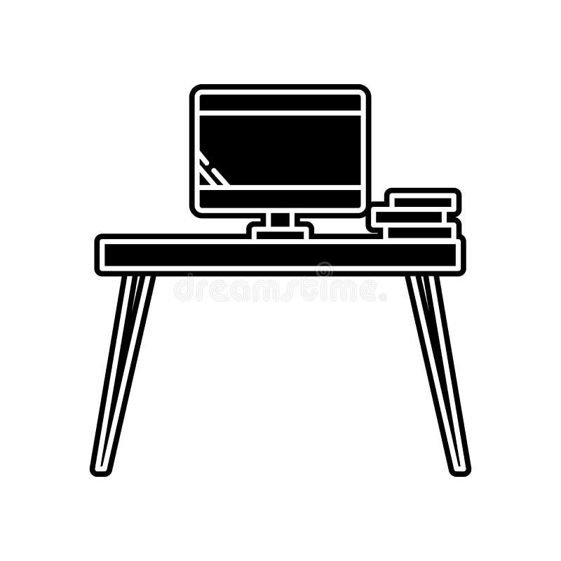 PC-lijstpictogram Element van huishouden voor mobiel concept en webtoepassingenpictogram Glyph, vlak pictogram voor websiteontwer stock illustratie