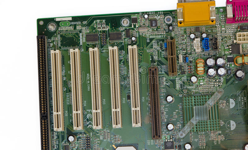 PC mainboard isolated stock images