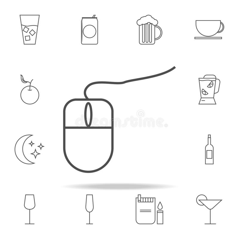 PC mouse icon. web icons universal set for web and mobile. On white background stock illustration