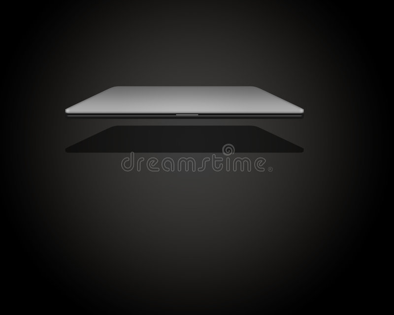 PC Notebook Digital High Resolution 3D. With Reflection royalty free illustration