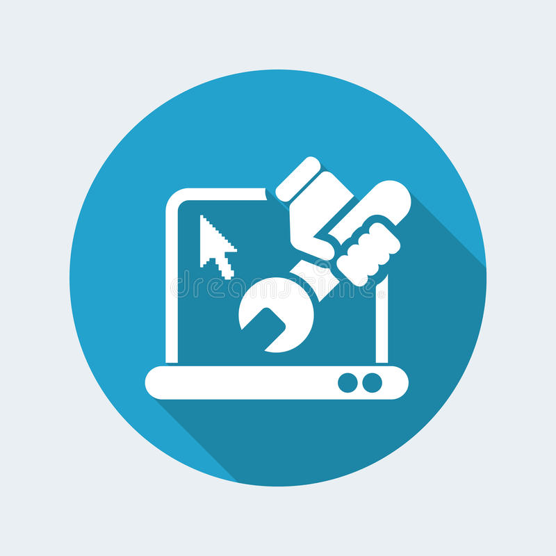 Pc repair icon. Vector illustration of single isolated Pc repair icon stock illustration