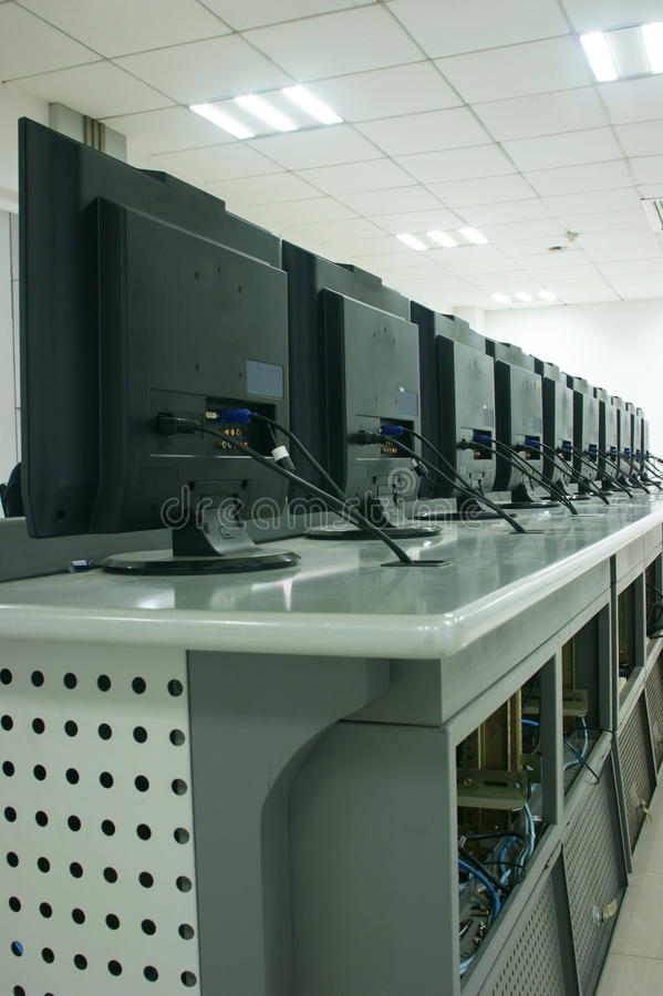 Telecommunication Room Design: Telecommunications Equipment In The Room Stock Image
