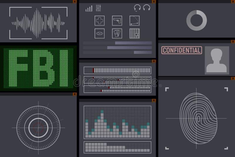PC-Software für das FBI lizenzfreie abbildung