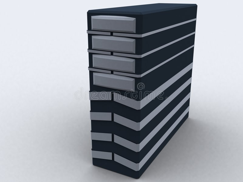 Pc tower in black royalty free illustration