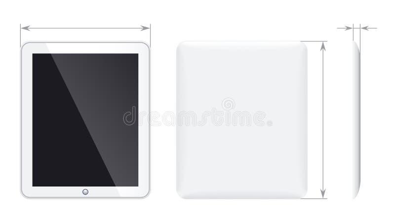 PC van de tablet royalty-vrije illustratie