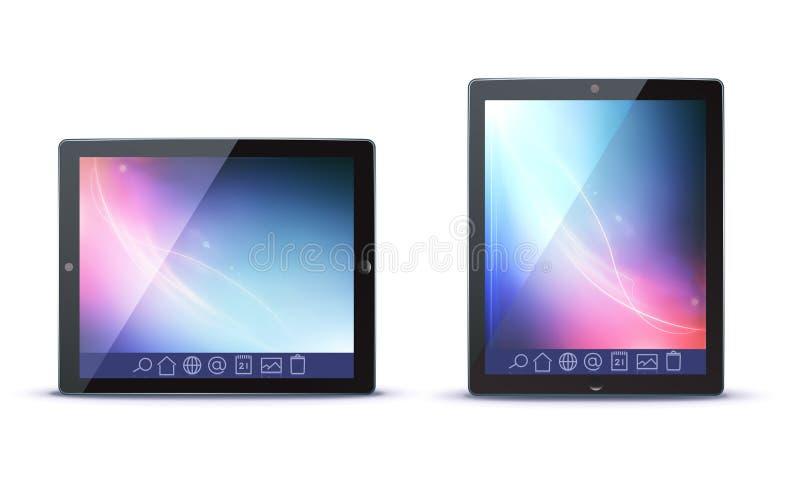 PC van de tablet vector illustratie