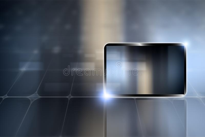 PC van de tablet stock illustratie