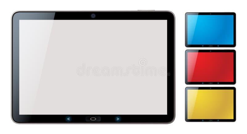 PC van de tablet die met copyspace wordt geplaatst - geïsoleerdet vector stock illustratie