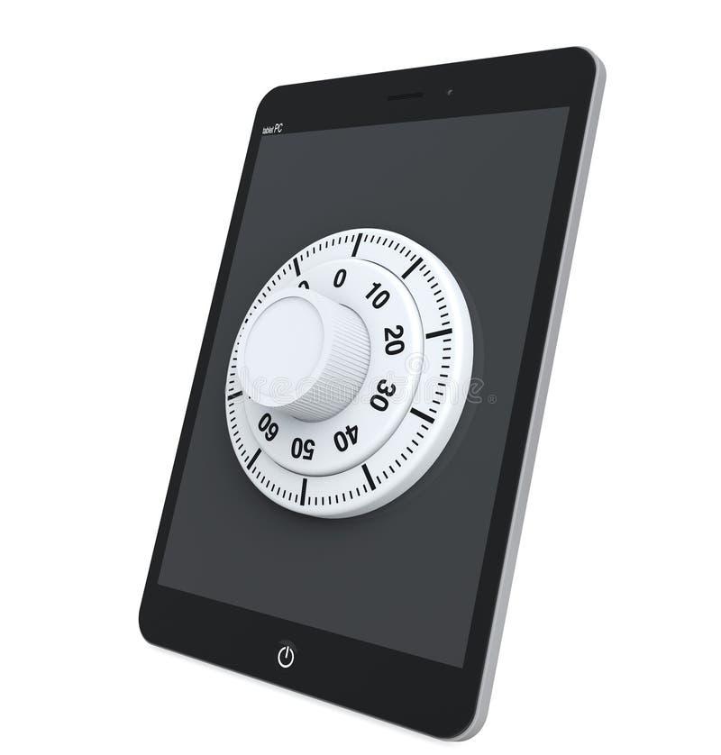 PC van de tablet met Slot vector illustratie