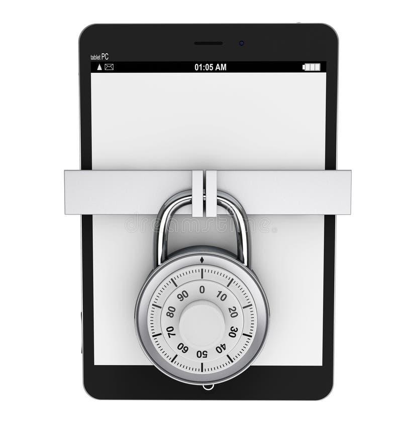 PC van de tablet met Slot stock illustratie