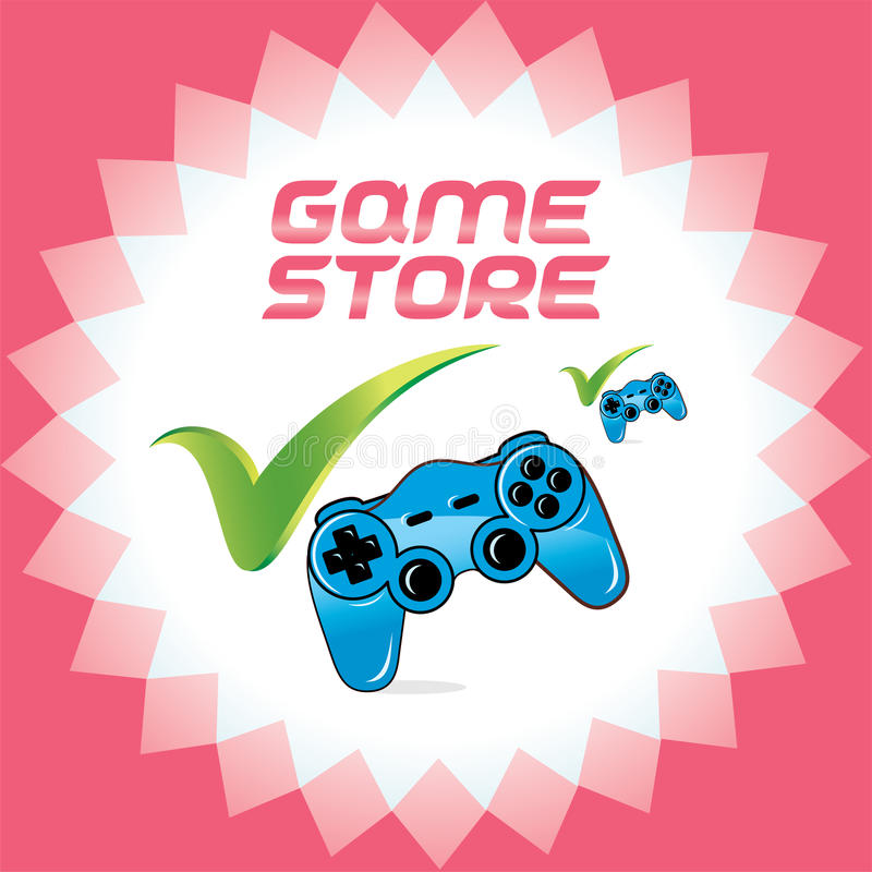 Download PC And Video Game Joystick For Web And Print Desig Stock Vector - Image: 30833688