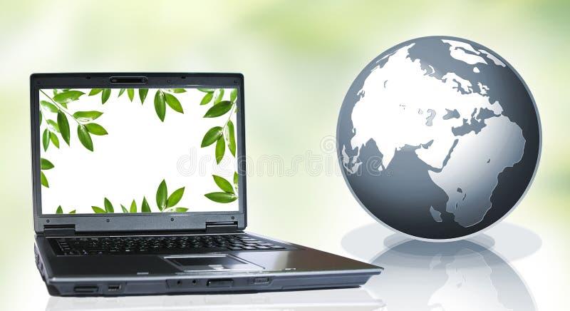 PC y naturaleza imagen de archivo libre de regalías