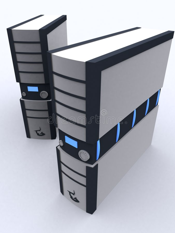 PC zwei im black&grey vektor abbildung