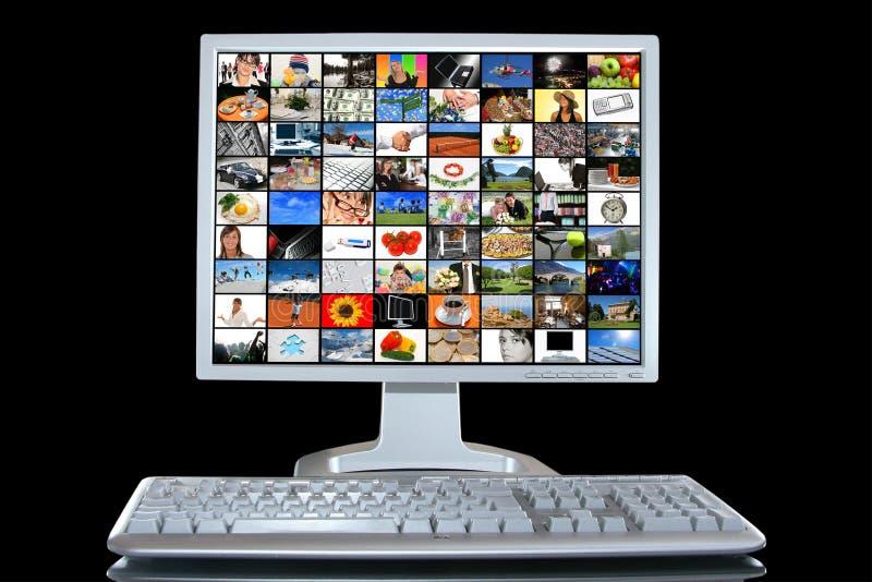 PCarbetsstation arkivfoton