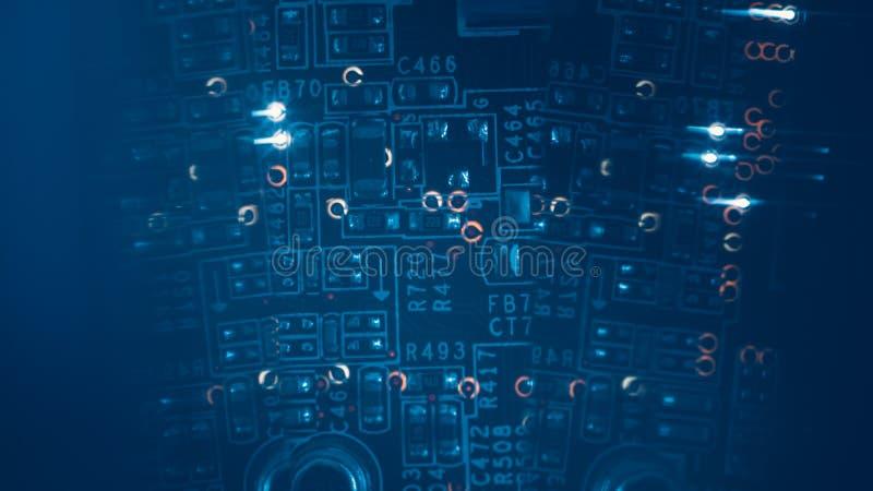 Pcb резисторов электронных блоков Smd интегрированный стоковая фотография rf