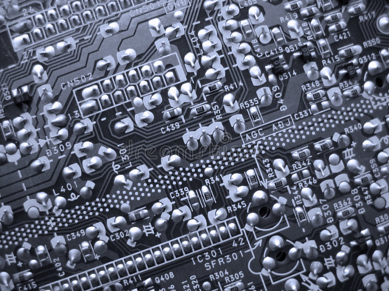 PCB. A closeup of a printed circuit board royalty free stock images