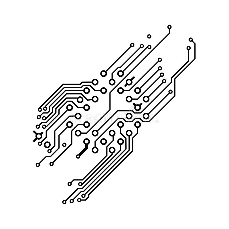 pcb  printed circuit board  1 stock illustration