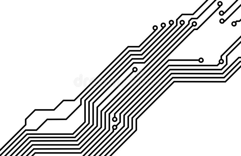 pcb  printed circuit board  8 stock illustration